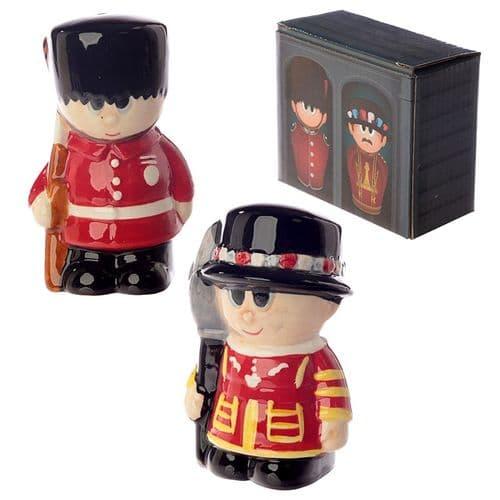 Novelty Beefeater and Guardsman Salt and Pepper Set